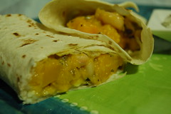 Butternut squash and white bean burritos