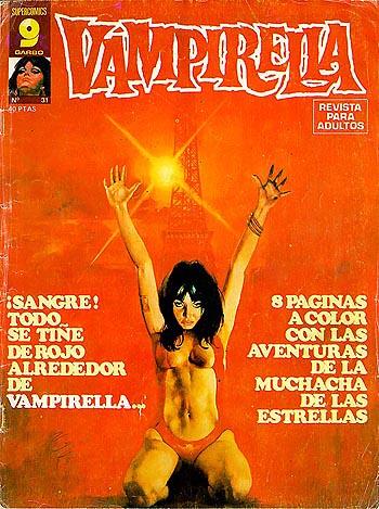 Esta es la versión de Vampirella de Garbo Editorial, es fácil imaginar como enquesarian estas portadas a los españoles de la época de Franco.