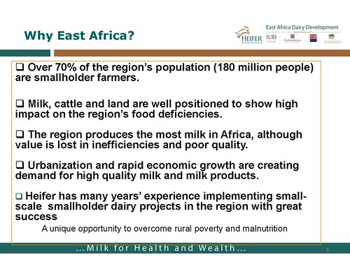 East African Dairy Development Project: Why East Africa?