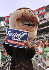 Teddy Roosevelt, Washington Nationals Presidents Race Loser