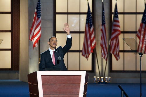 Barack Obama accepted his partys nomination for the presidency at the The Democratic National Convention on August 28, 2008.
