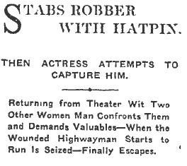 hatpin headline
