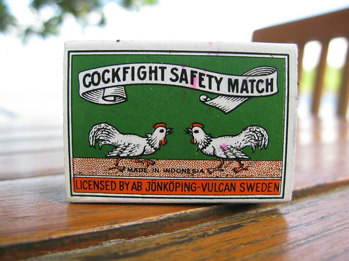 Cockfight safety matches struck a foreshadowing tone in Amed.