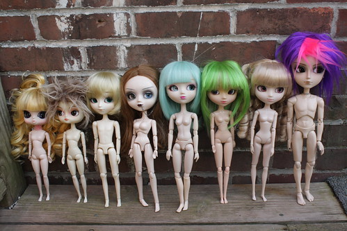 Nude Comparison: Byul, Dal, Isul, Pullips Type 1-4 and Taeyang