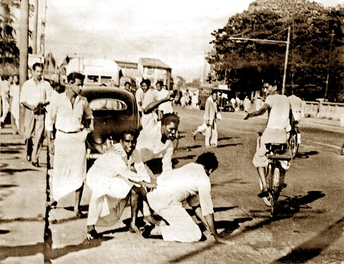 Riots May 1958 - A Tamil passenger was taken out of the vehicle and beaten up