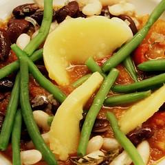 Suppiges Bohnen/Quittengewusel