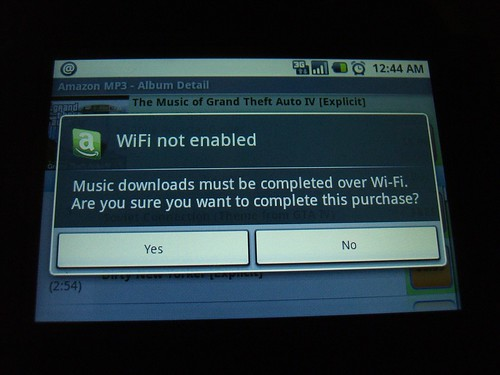 Wifi not enabled