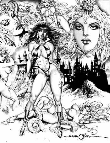 Gonzalo Mayo fué otro de los artistas que le metieron mano a la Vampi, Mayo la dibujaba más carnosita, buen trabajo.