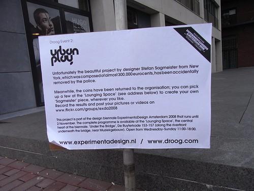Urban Play Amsterdam - Sagmeister Was Here