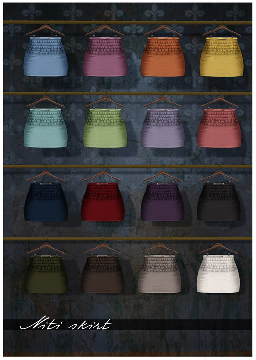 Zaara : Niti Skirt colors