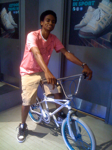 Chris showing off his sweet bike