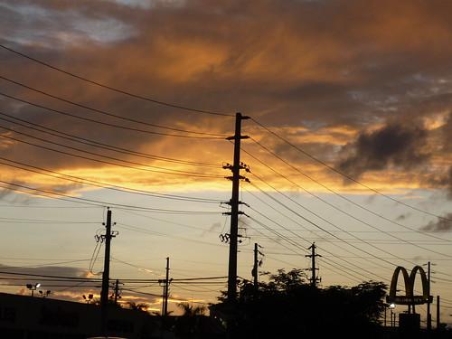 Autumn sunset in Puerto Rico