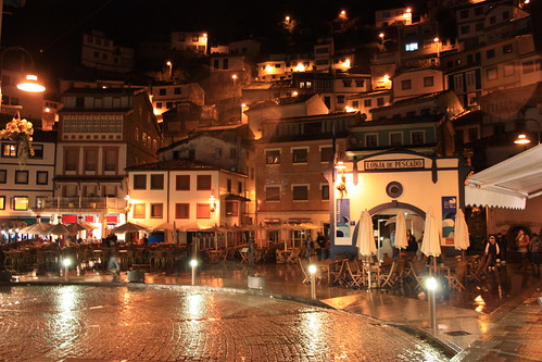 Cudillero by night