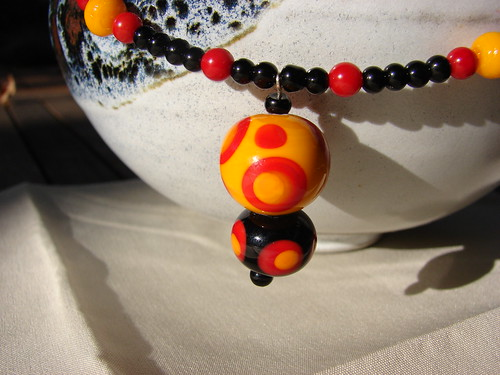 Dots pendant close-up