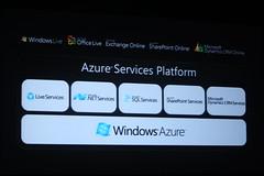 Azure Services Platform Slide