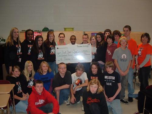 Harlem Middle School Check Presentation 11.25.2008