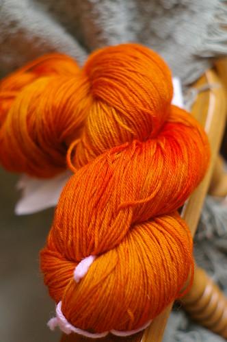 orange sock yarn