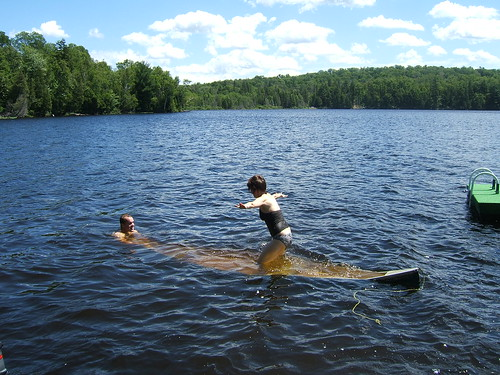 More Canoe Fun!  A rare shot of me in the water...