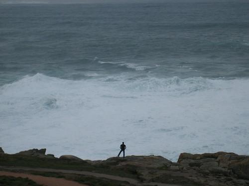 Staring the waves crashing