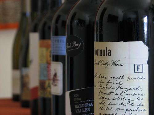 depth of field experiment (wine)