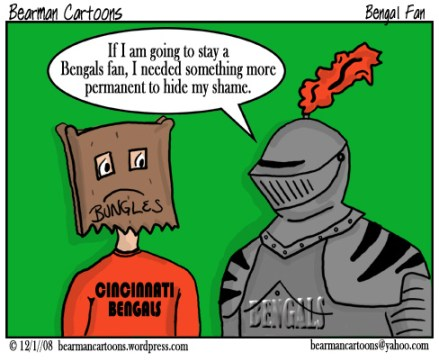 12 1 08 Bearman Cartoon Cincinnati Bengals armor shame