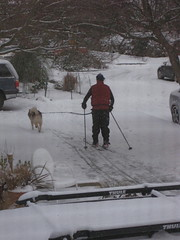 XC skiing on 3 inches