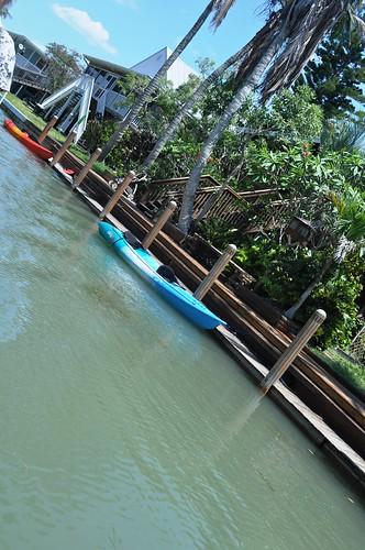 No Cars but Plenty of Boats on Little Gasparilla Island, Fla.