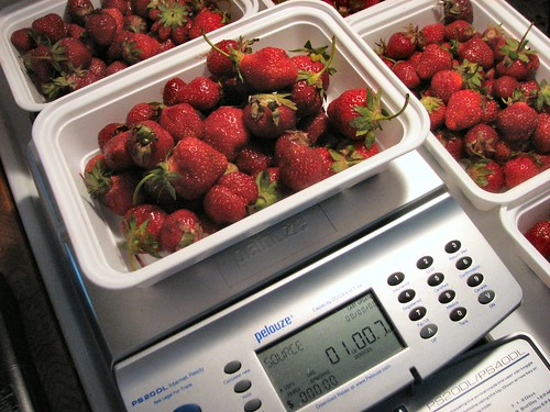 Six pounds of strawberries
