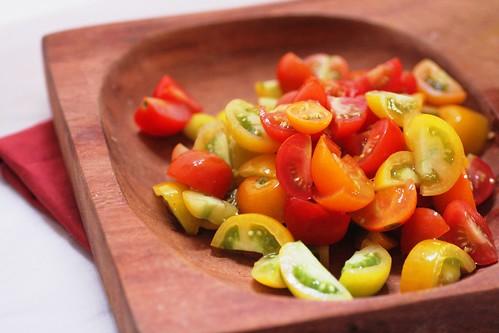 Chooped cherry tomatoes