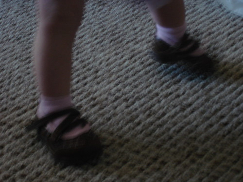 Its hard to take a clear shot of fast-moving munchkin feet.