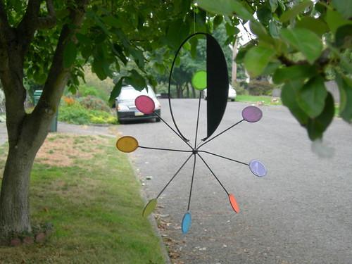 Calder-esque tree rainbow spinner