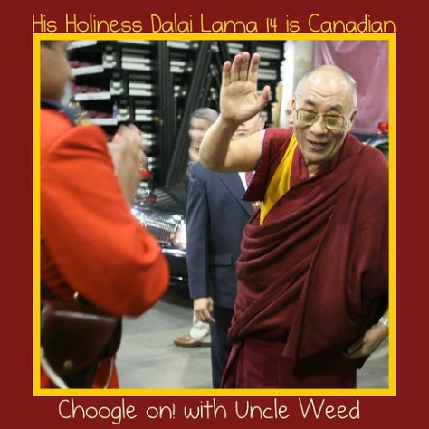 His Holiness Dalai Lama 14 is Canadian