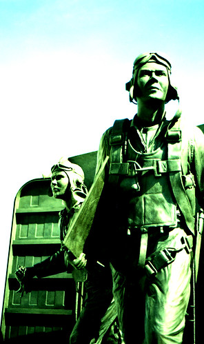 World War II Pilots, Naval Aviation Monument. (Fuji Provia 100F — Cross-Processed. Nikon F100. Epson V500.)