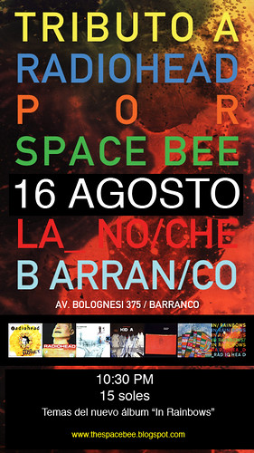 Afiche Radiohead Space Bee