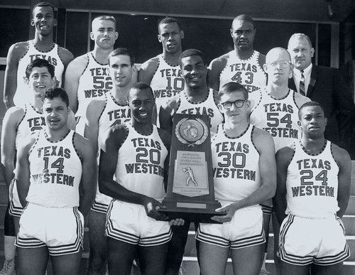 Don haskins + Texas Western team, 1966
