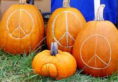 Peace Pumpkins at the North Quabbin Garlic and Arts Festival