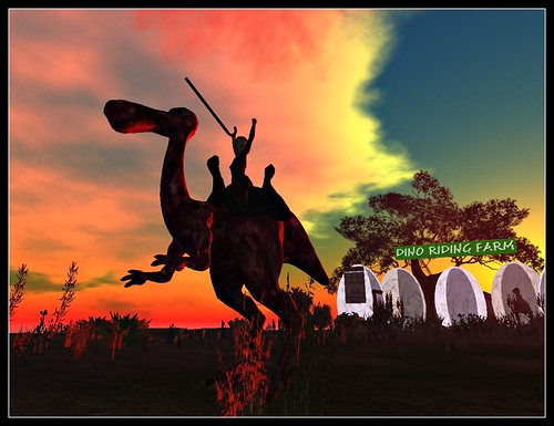 Dino riding farm