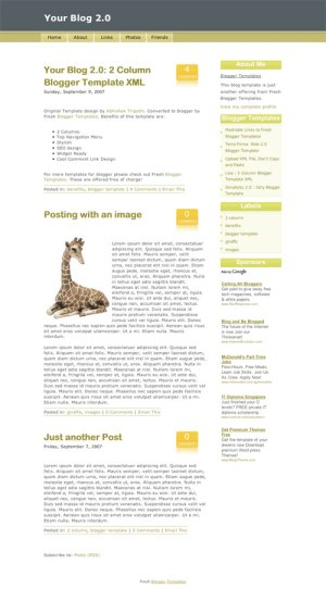 10 template blogger keren gratis - Your Blog 2.0