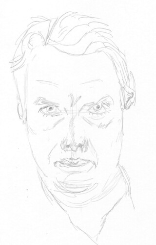 Self-portrait, drawn on July 15, 2009