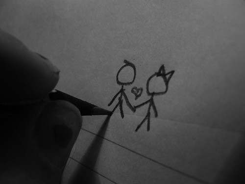 stick figure love by Dakota Debonaire.