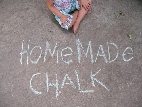 homemade chalk...