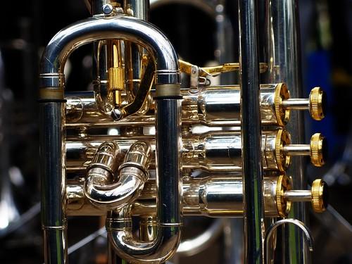 Tiverton Brass Band - Trumpet - Close-up