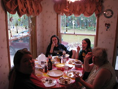 My family members enjoying breakfast.