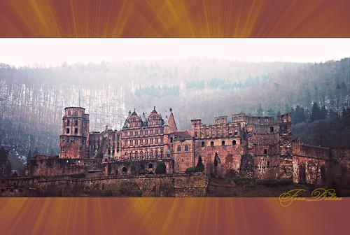 Die Burg in Heidelberg