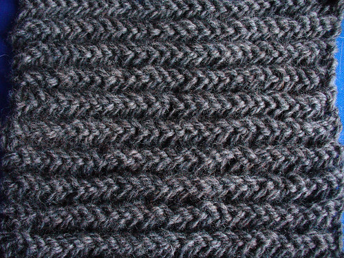 Double Garter Swatch Solid