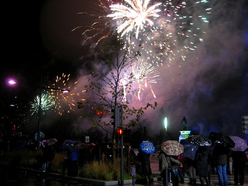Fireworks in the Parc Jouvet.
