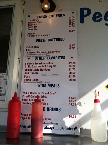 Chip wagon menu