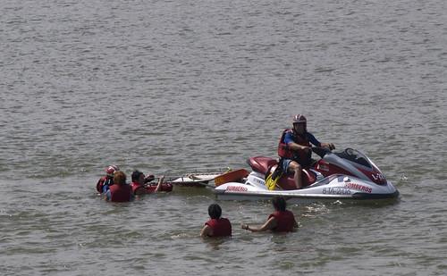 acción contra el dragado del Ebro 10/07/08