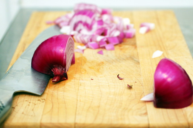 red onion for salad olivier