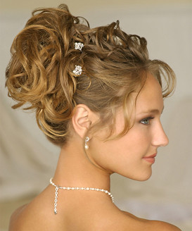 your best wedding loose wavy updo romantic hairstyle for wedding photo